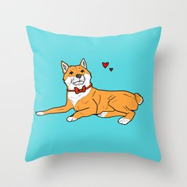 Shiba Inu Love Throw Pillow