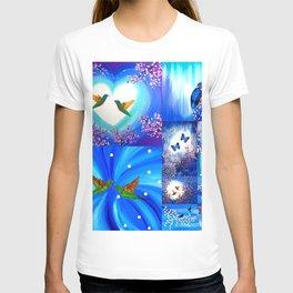 Blue designs T-shirt