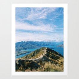 Roy's Peak Hike, Wanaka, New Zealand Art Print