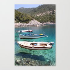 Three Fishing Boats Canvas Print