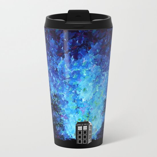 Lonely Tardis Doctor who Art painting iPhone 4 4s 5 5c 6, pillow case, mugs and tshirt Metal Travel Mug
