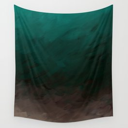 Inverted Fade Turquoise Wall Tapestry