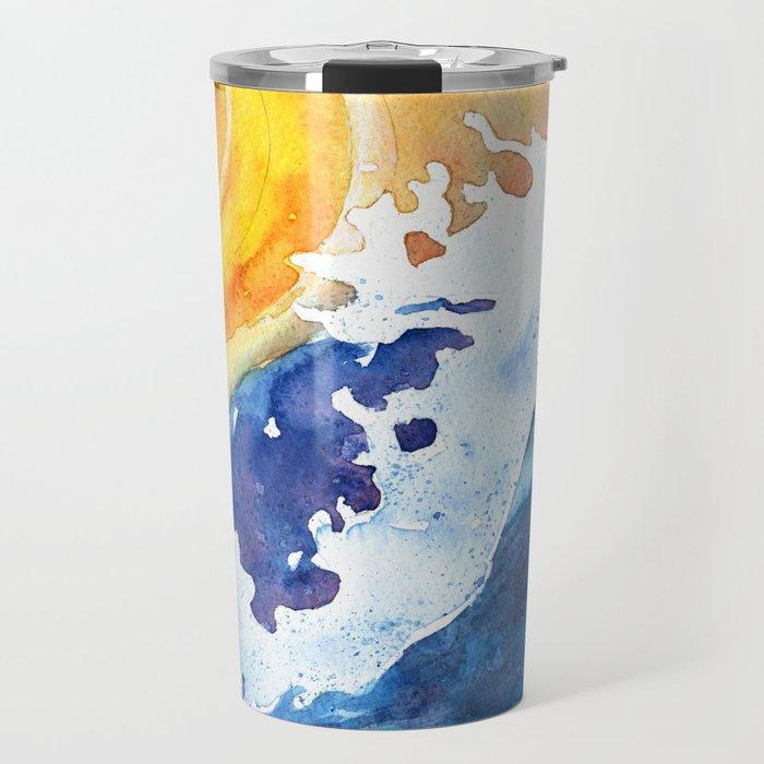 Ocean Wave Travel Mug