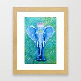 Mrs. Elephant Framed Art Print