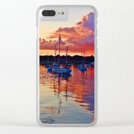 Multi-Colors Bouncing Off Storm Clouds and Water Clear iPhone Case