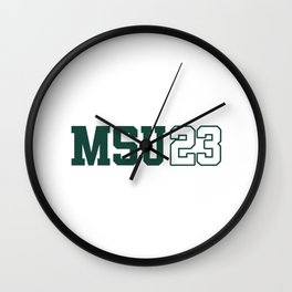 Michigan State Class of 2023 Wall Clock