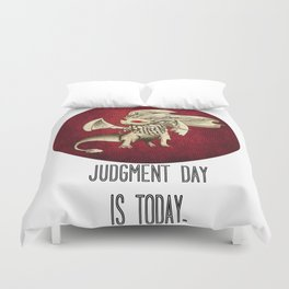 Judgment Dragon inspired card Duvet Cover