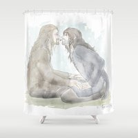 kili Shower Curtains featuring Almost... by AlyTheKitten