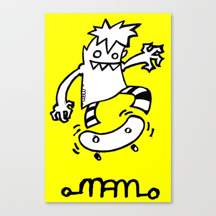 Skateboard gremlin Canvas Print