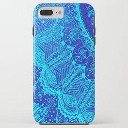 Blue SPARKLE Doodle iPhone Case