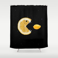 Funny Lemon Eats lemon Shower Curtain
