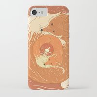 foxes iPhone & iPod Cases featuring Foxes by Beesants