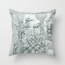Don't Worry Be Happy 3 (Who Forgets The Past Is Condemned To Repeat It) Throw Pillow