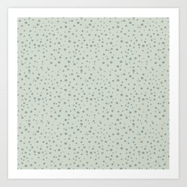 PolkaDots-Juniper on Mint Art Print