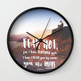 Isaiah 43:1 Wall Clock