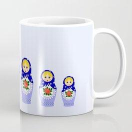 Blue russian matryoshka nesting dolls Coffee Mug