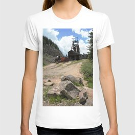Climbing Up to the Longfellow Mine at 11,080 Feet T-shirt