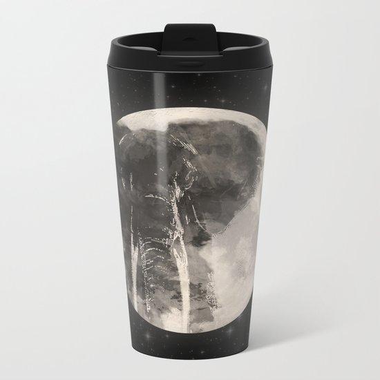 The Elephant in The Moon Metal Travel Mug