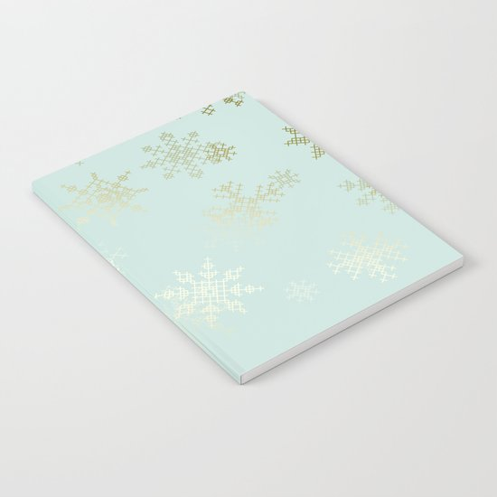 Gold Snowflakes Notebook