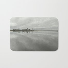 Edinburgh sea side, rainy day Bath Mat