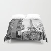 jeep Duvet Covers featuring Paris No1 by Julia Aufschnaiter