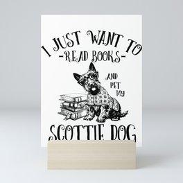 Scottie Dog  - Scottish Terrier  Mini Art Print