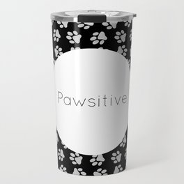 Pawsitive Paws - dog lover animals pattern Travel Mug