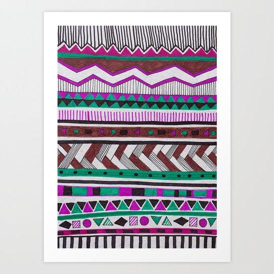 TAMAYA-MIXE Art Print