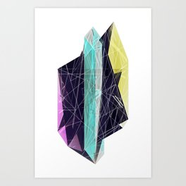 Geminate - Neon Art Print