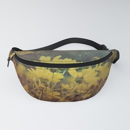 Abstract Yellow Daisies Fanny Pack
