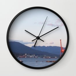 Sunset from Granville Plaza Wall Clock