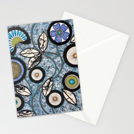 Lovely Flowers Blue Stationery Cards
