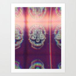 Trippy Kaleidoscope Sugar Skull Art Print
