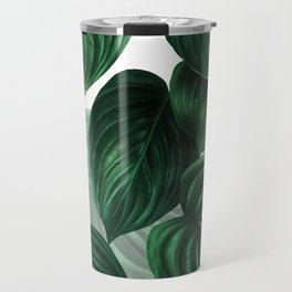 tropical green pattern Travel Mug