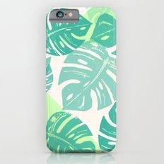Linocut Monstera Green iPhone 6s Slim Case