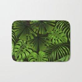 Jungle leaves  Bath Mat
