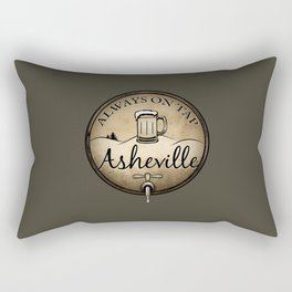 Asheville Beer - Always On Tap - AVL 22 Grunge Dark Brown Rectangular Pillow