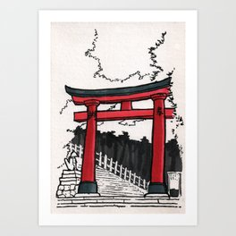 Japan : Fushimi Inari Art Print