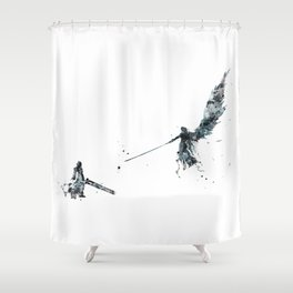 Final Fantasy Watercolor Shower Curtain