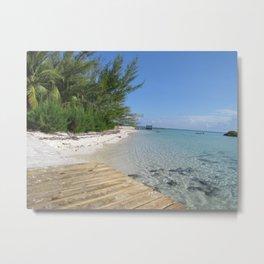 Cherokee Long Dock Beach - Abaco, Bahamas Metal Print