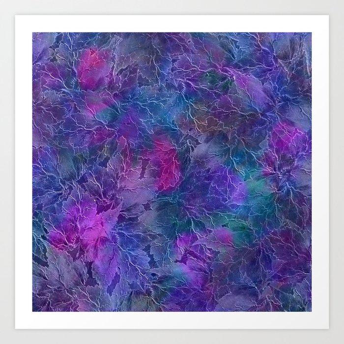 Frozen Leaves 5 Art Print
