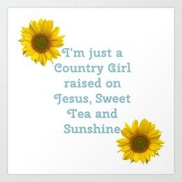 Country Girl Raised Art Print