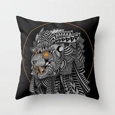 Barbarian Lion Throw Pillow