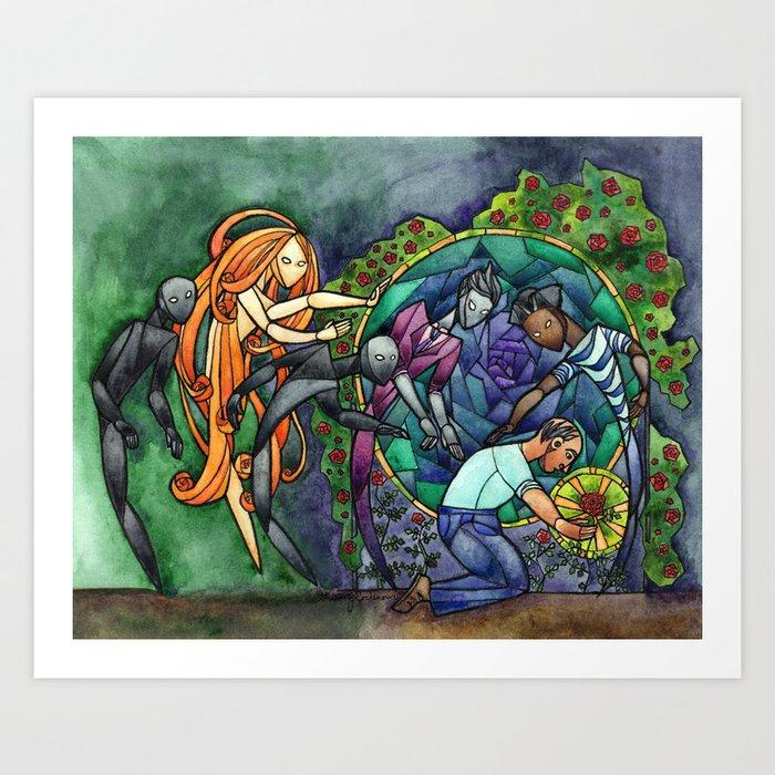 The Rose Maze Art Print