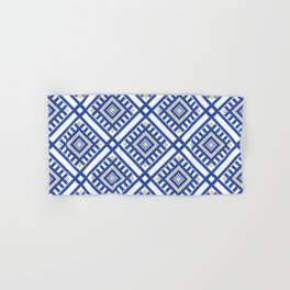 Blue Traditional GeometryPattern Hand & Bath Towel