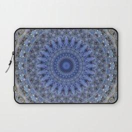 Gray and blue mandala Laptop Sleeve