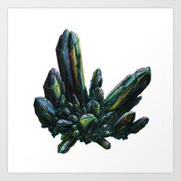 Aqua Aura Quartz Art Print