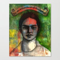 Wings to Fly, a portrait of Frida Kahlo Canvas Print