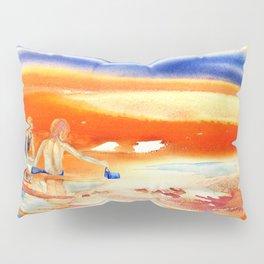 Children At Sunset Pillow Sham