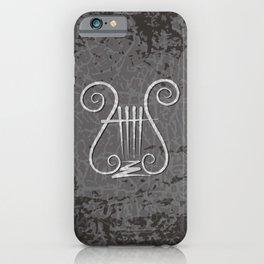 Black Lyre iPhone Case